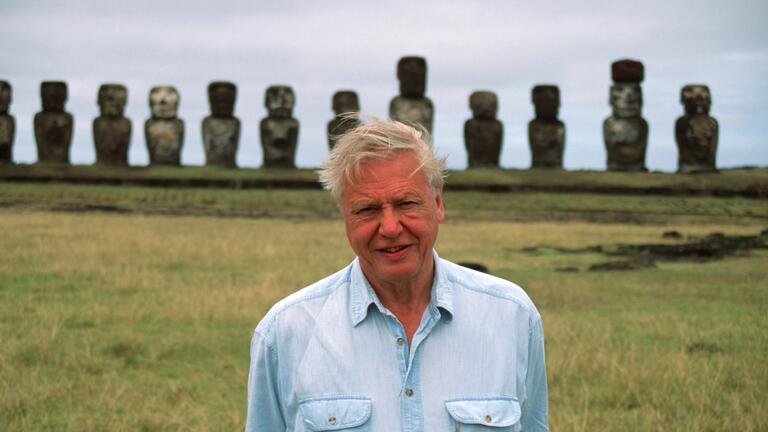 David Attenborough on Easter Island