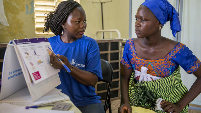 Senegalese woman learning about modern contraceptives