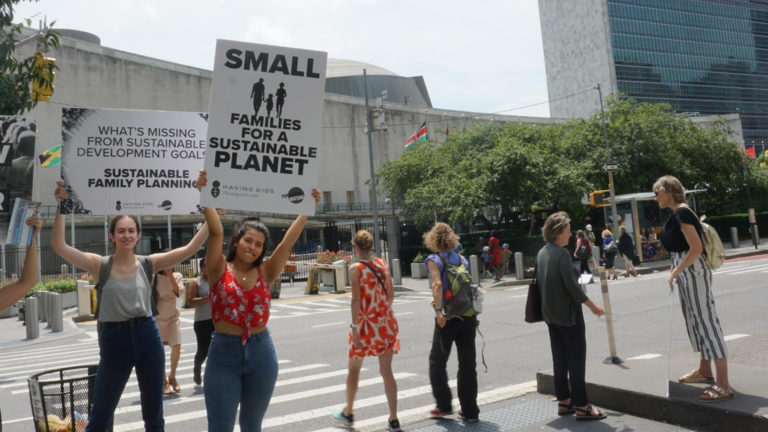 Population Matters campaigners in New York