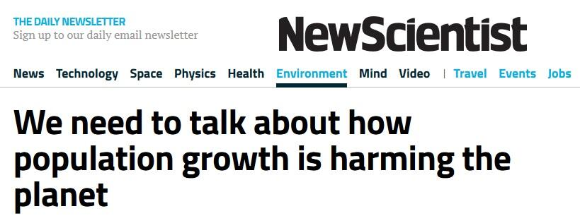New Scientist headline