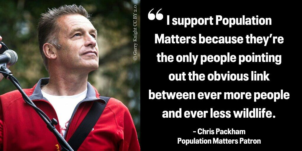 Chris Packham supports Population Matters