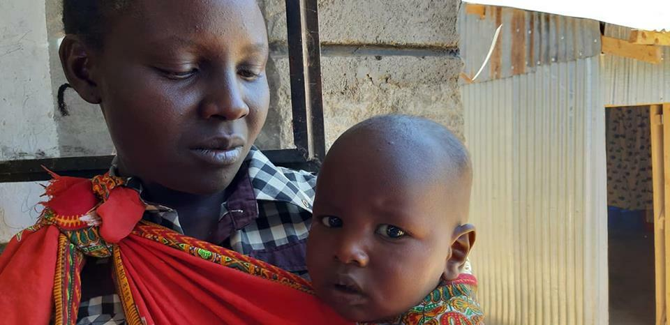 Kenyan mother and child
