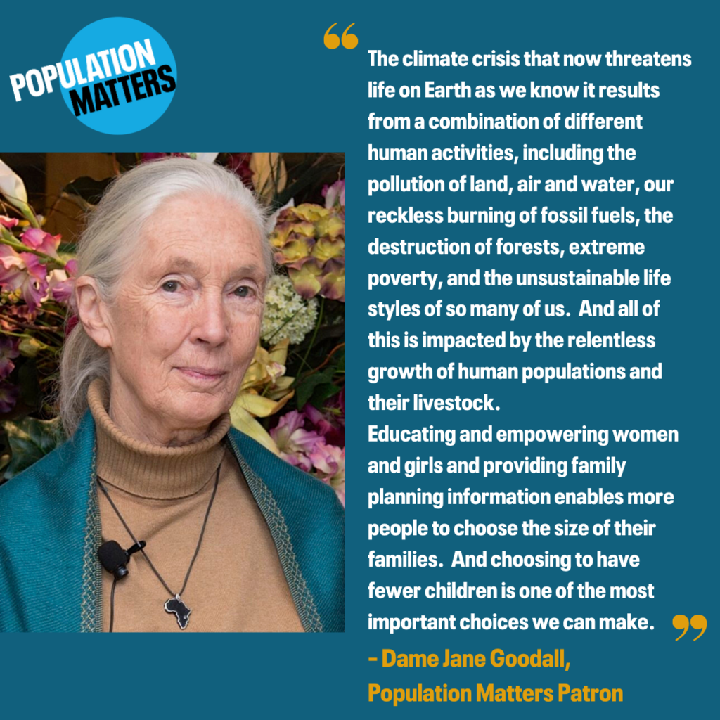 Jane Goodall on family size and climate change