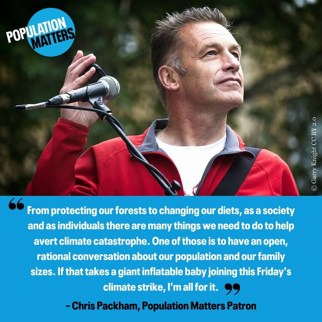 Chris Packham suports populationa ctin on climate