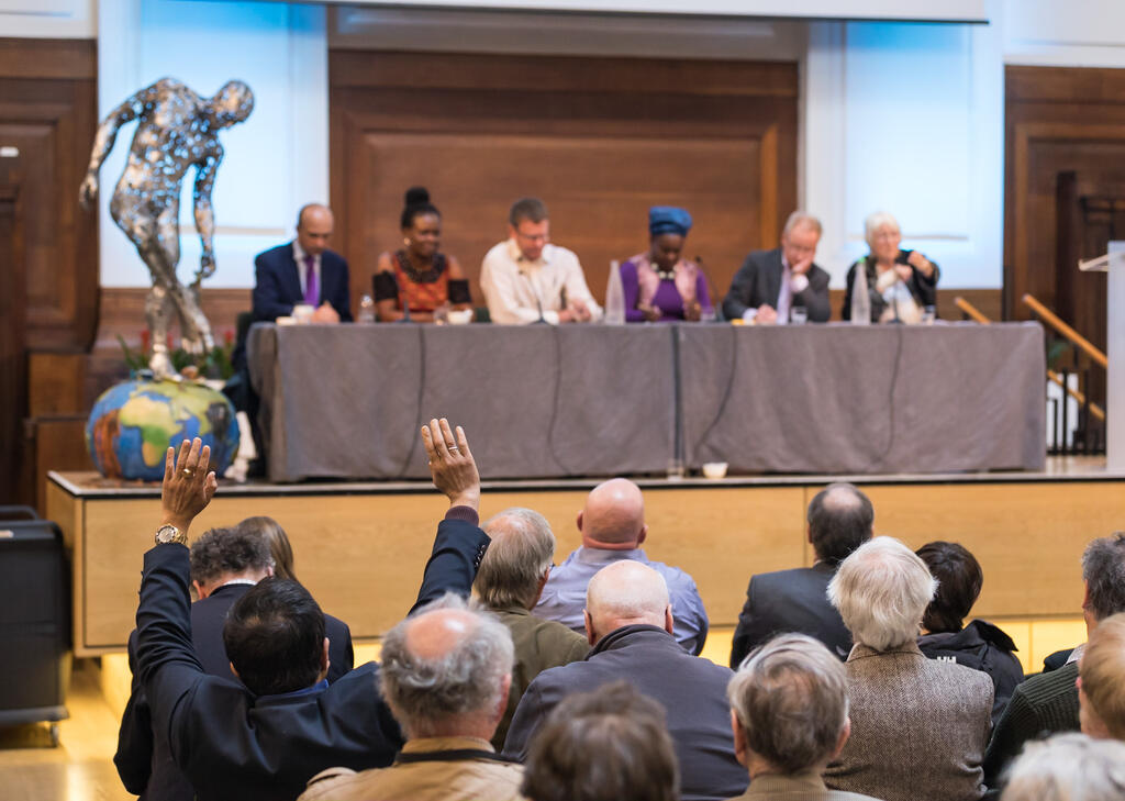 Panel and audience at Population Matters conference 2019